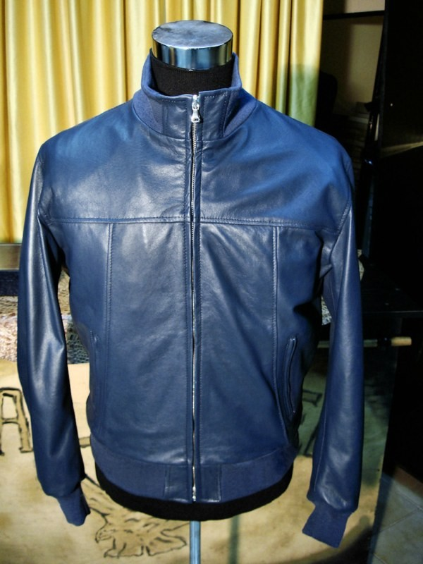 finest selection af29d 09b2b GIUBBOTTO BOMBER CLASSICO IN VERA PELLE TAGLIE FORTI ...