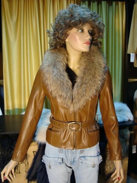 Giacca Pelliccia Pelle Modello Donna In Vera Con Ruby Collo rrq86fU